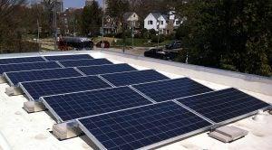 D.C. solar array installed by Solar Solution