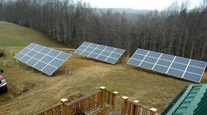 10 kW system at the home of John Snyder, co-op member