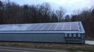 Solar array on a chicken house