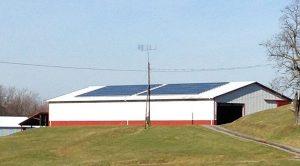 Solar installed on a barn house