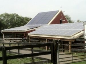 Solar installation on barn