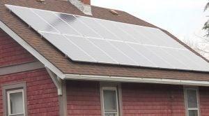A solar array in Morgantown, WV
