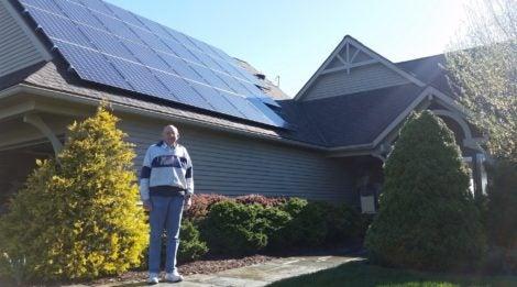David Baxa's solar installation
