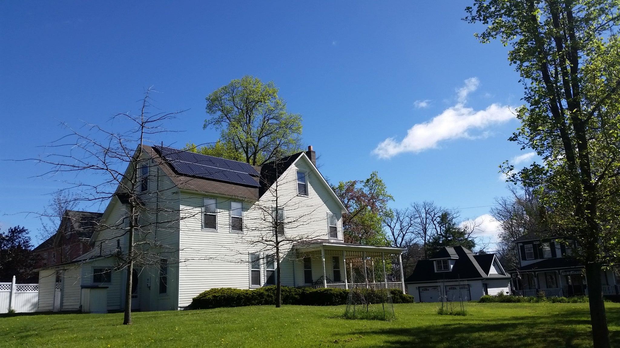 Jay Clark's solar installation
