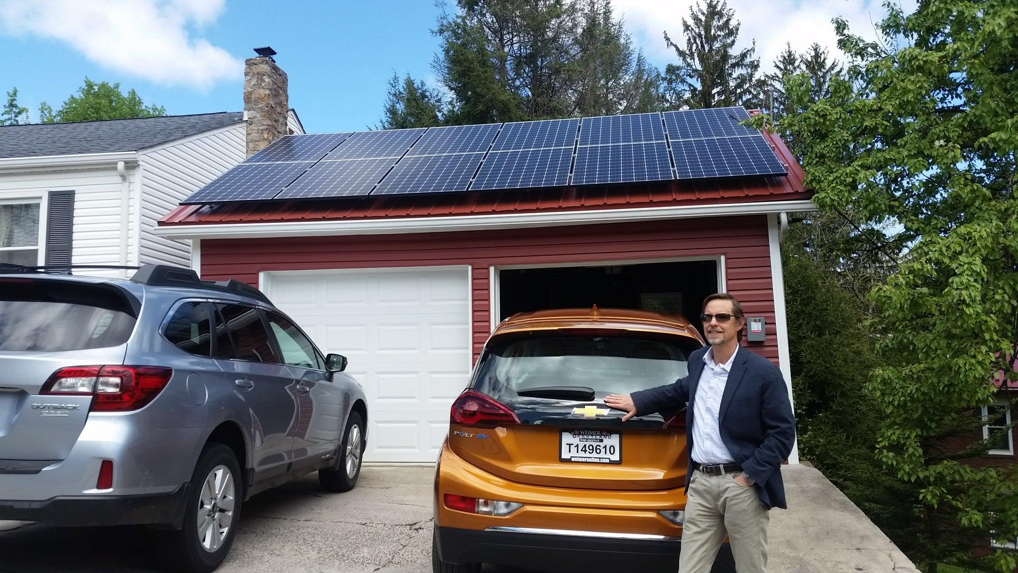Skott Brill with his solar installation