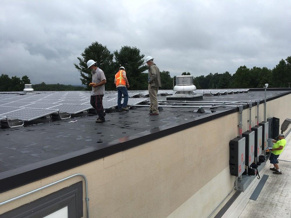 Monticello High School solar installation in Albemarle County, Virginia