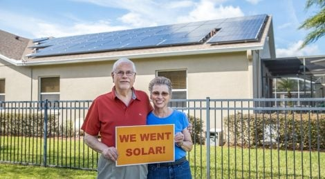 Florida co-op members with their solar system
