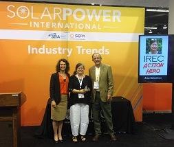 Anya accepts IREC Action Hero Award in 2015