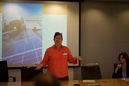Anya delivering solar presentation