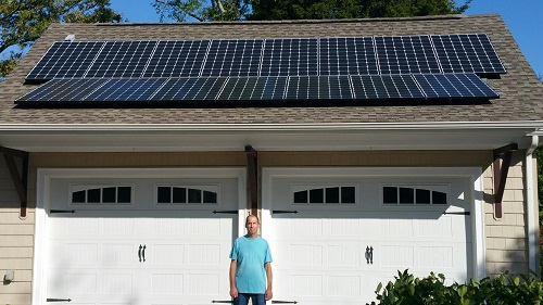 Co-op member, Brett Seigfried, and his 4.65 kW system