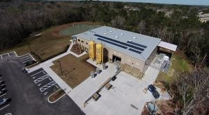 Brewery with solar panels