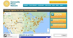 Community Power Network front website page