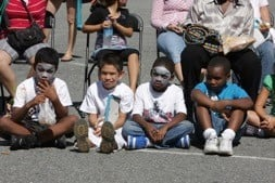 Children enjoying the 2008 Mt. Pleasant Solar Fair