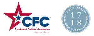 Combined Federal Campaign and Chronicle of Philanthropy logos