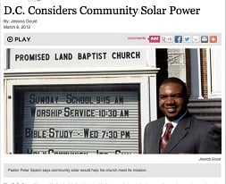 DC Community Solar Baptist Church News Clip