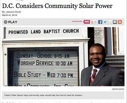 DC Community Solar Baptist Church News Clip