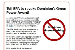 Dominion's Greenwashing Campaign