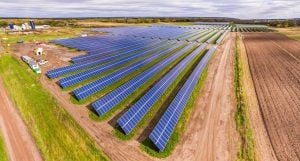 The 5 MW community solar array at Eichten's Hidden Acres Cheese Farm in Center City, Minnesota can produce enough electricity to power 1,000 homes.