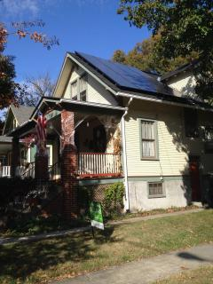 A home with rooftop solar in Maryland