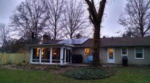 Solar home of co-op member Eugene Matthews