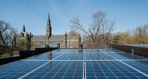 A solar array in Georgetown, Washington D.C.