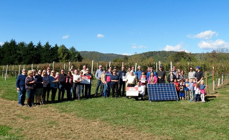 Gadino Cellars Winery and Vineyard went solar with the co-op