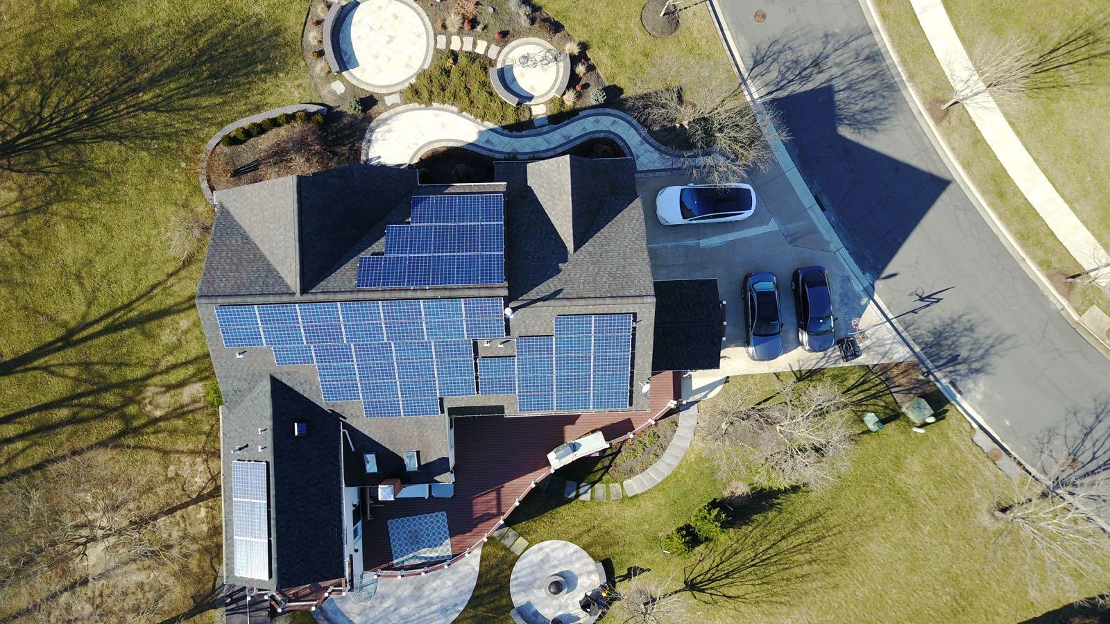 Matma Tiwari's solar installation