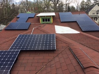 Multi-surface solar installation