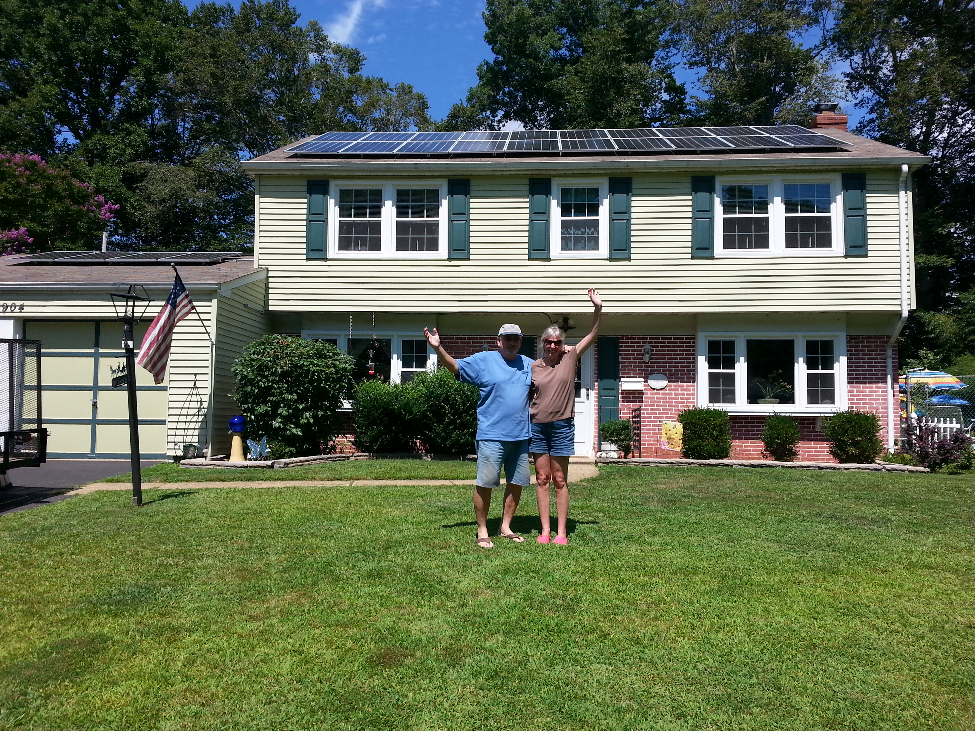Kelly & Dave Campion with their solar installation