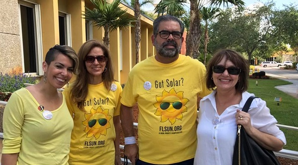 Miami Solar Co-op members celebrate their launch