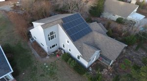 7.83kW home solar system aerial view