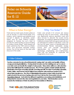 National Solar Schools Consortium