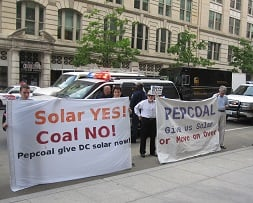 Pepco shareholder demonstration in 2011