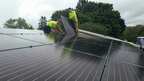Independent Solar Solutions installs one of the co-op's systems