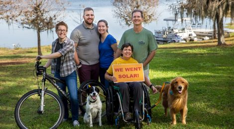Florida co-op members celebrating going solar