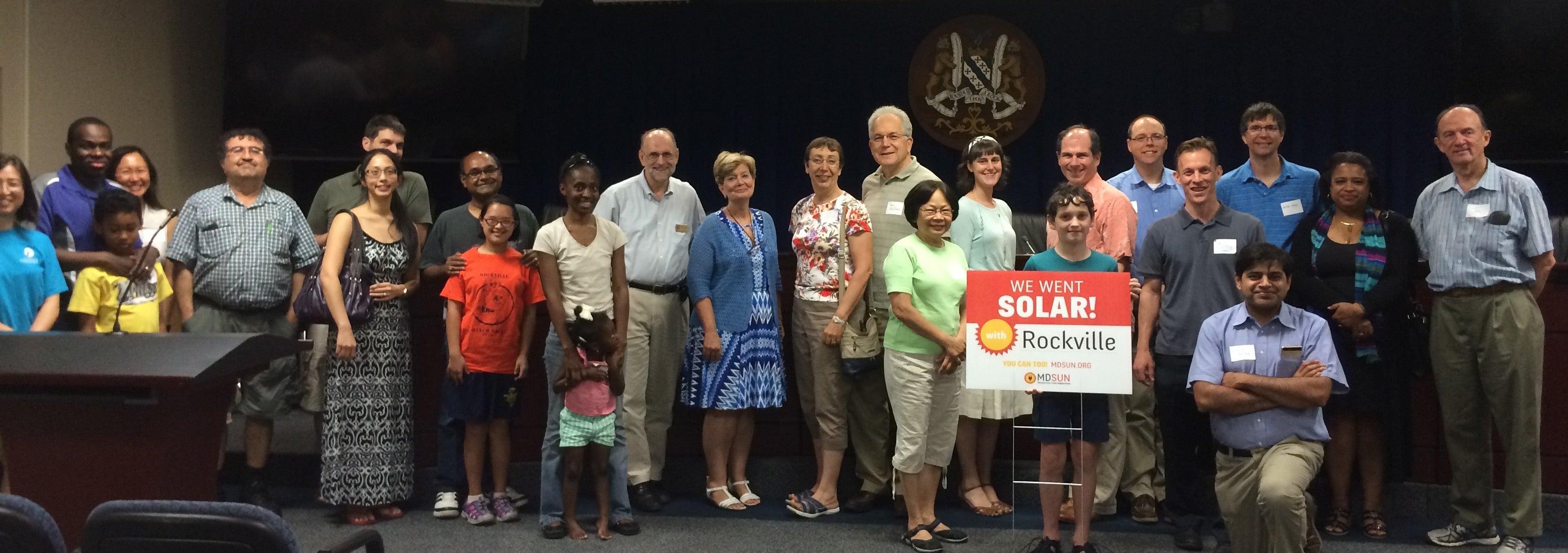 Rockville Solar Co-op celebration
