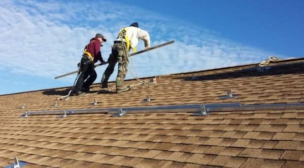 Rooftop Solar Installation Racking