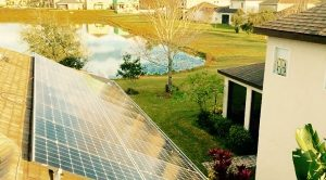 Rooftop Solar with pond