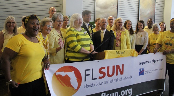 Seminole County Solar Co-op members celebrate