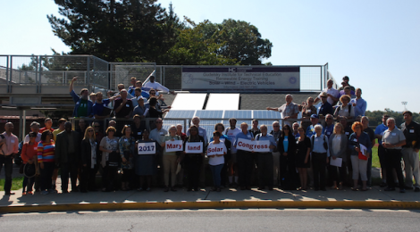 2017 Maryland Solar Congress attendees gather for a group portrait