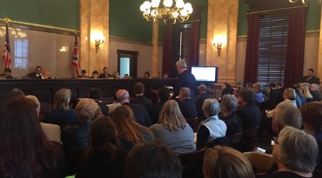 Solar supporters in Ohio testify before the state senate to defend the state's renewable portfolio standard.