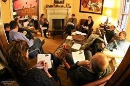 Solar activist house meeting