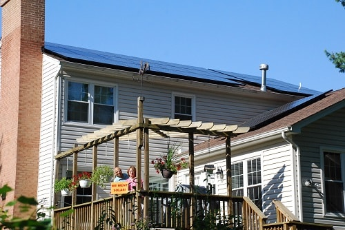 Co-op member Ved Sud hosted a solar open house to help grow the Greater Arlington Solar Co-op