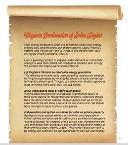 Virginia Declaration of Solar Rights