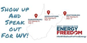 WV PSC Hearing dates for First Energy case