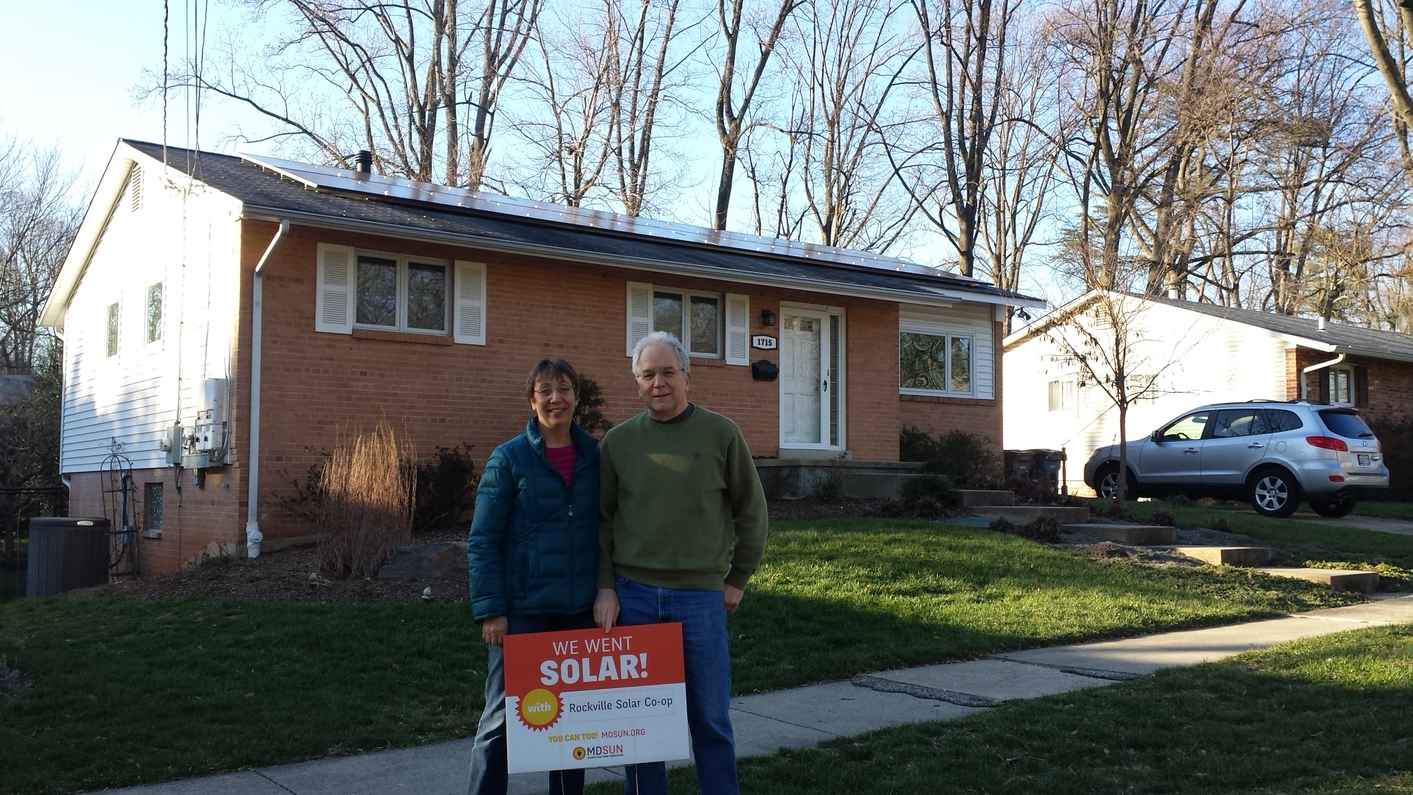 The Wellems with their solar installation