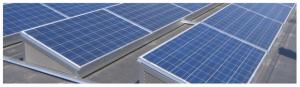Ballastes solar installation