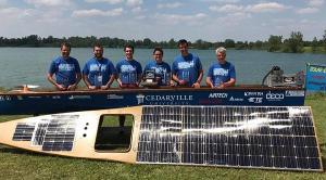 Cedarville University's Solar Boat racing team