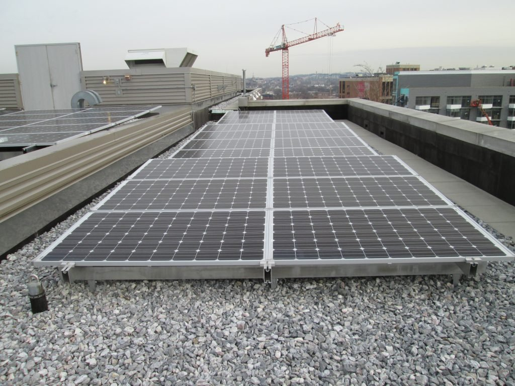 Solar System On A Multi Family Building In Washington D C For Condos And