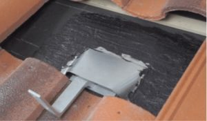 clay tile and hooks for solar installation